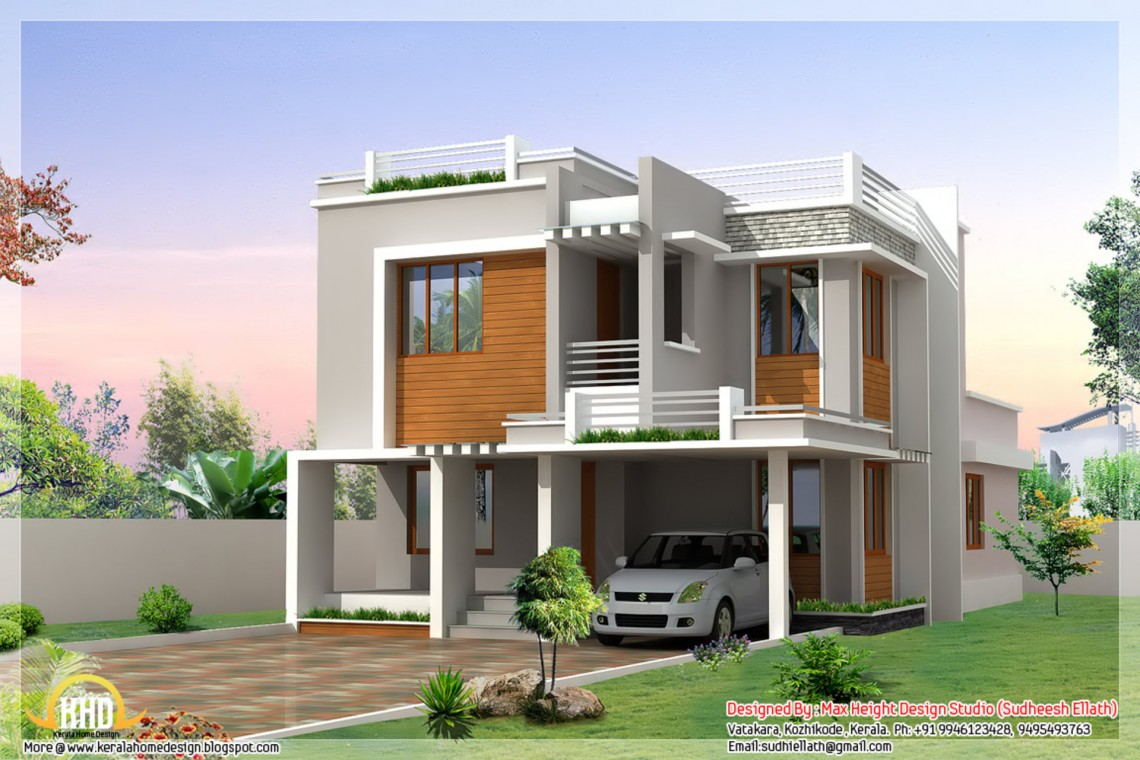 More than 80 pictures of beautiful houses with roof deck for Home plans india