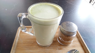 イギリスの抹茶ラテの写真2
