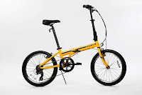 """EuroMini ZiZZO Campo Lightweight 20"""" 7-Speed Folding Bike, weighs just 28 lbs, folds in seconds, with Shimano components, adjustable stem & seatpost for riders from 4ft 8"""" tall up to 6ft 3"""" tall"""