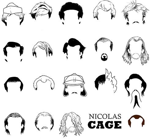 Nicolas Cage y sus peinados