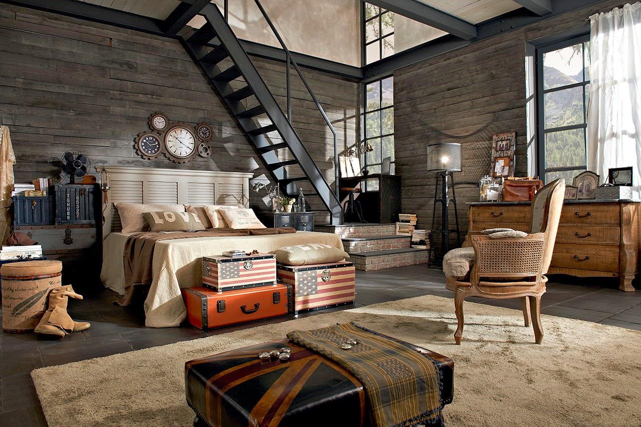 Dormitorios en estilo industrial dormitorios colores y for Habitacion decoracion industrial