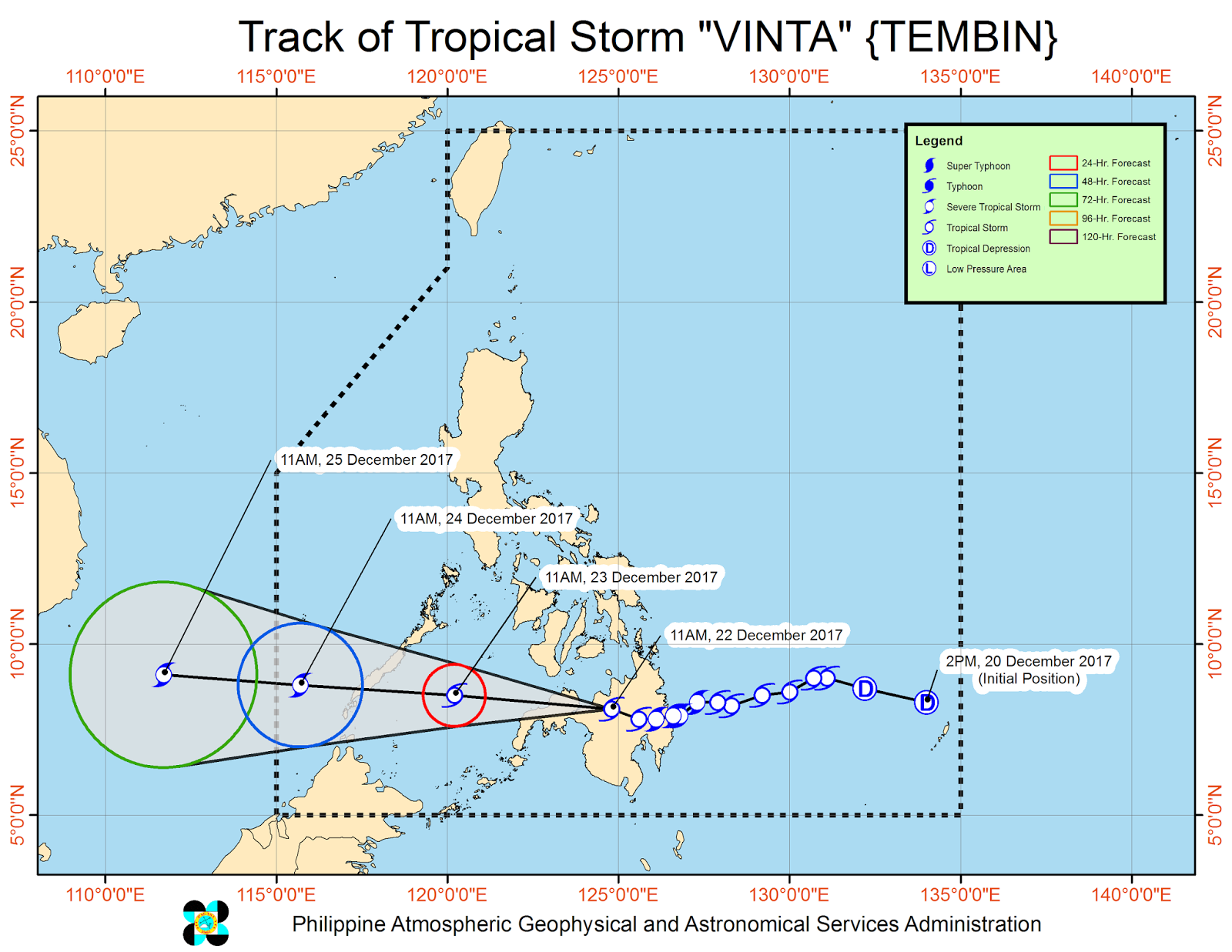 Below Is The Forecast Movement And Track Of Vinta In Next 24h 48h 72h Images Courtesy PAGASA