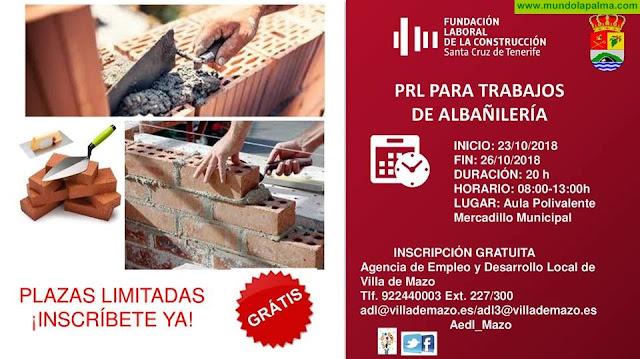 PRL para trabajos de albañilería en Villa de Mazo