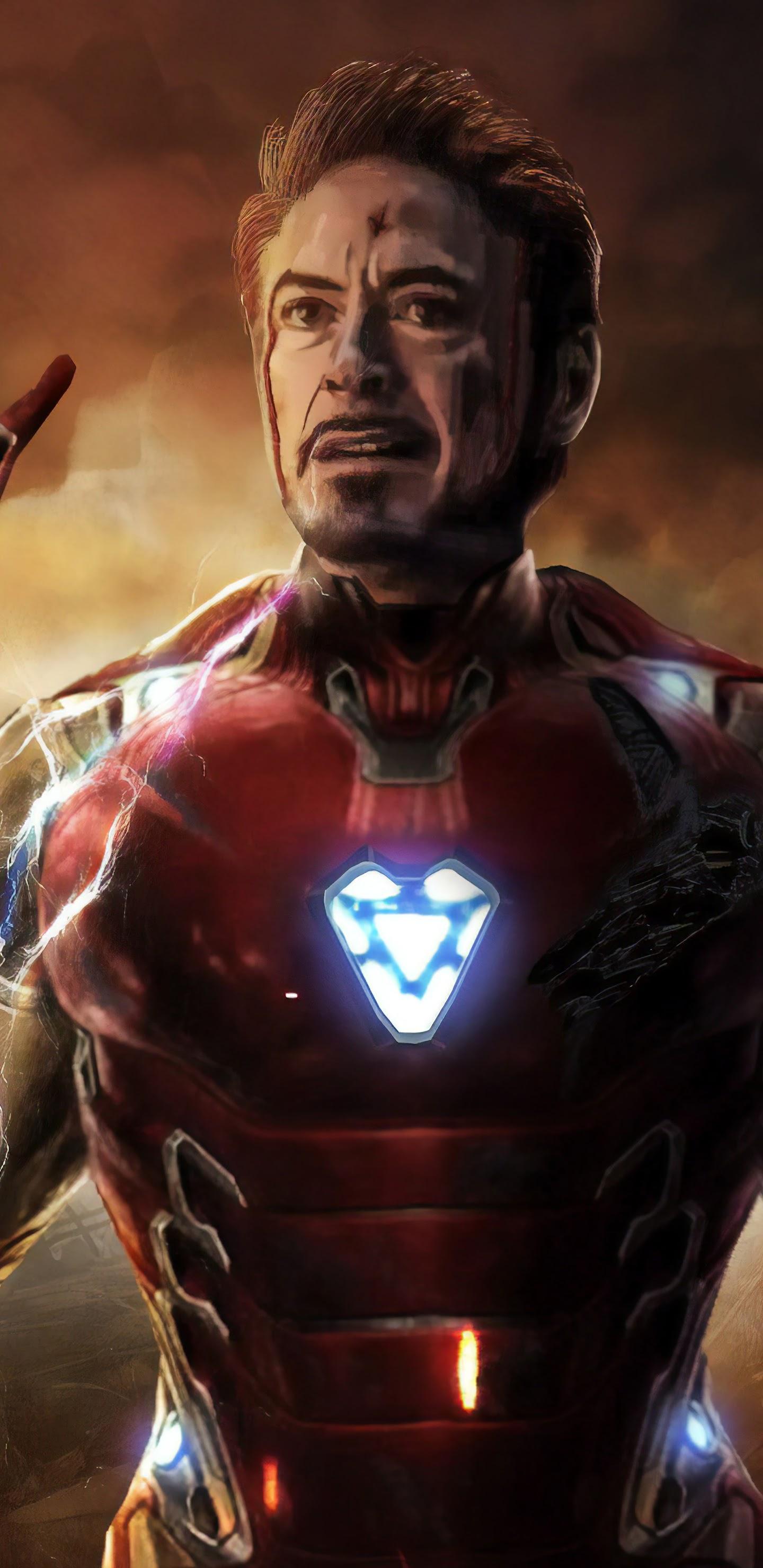 Avengers Endgame Iron Man Tony Stark Infinity Stones 8k