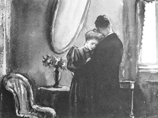 Koukryniksy, l'illustration pour « La Dame au petit chien »,  la nouvelle d'Anton Tchekhov, 1945-46, Galerie Tretiakov, Moscou, Russie