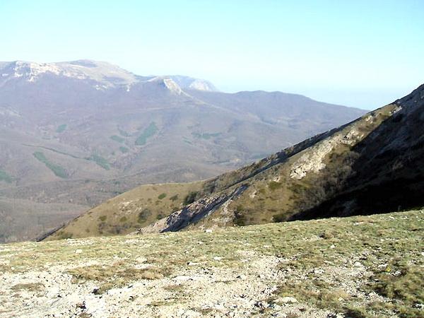 Спуск в село Краснолесье