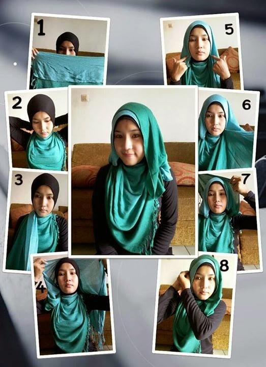 Cara memakai jilbab pashmina ala zaskia adya mecca