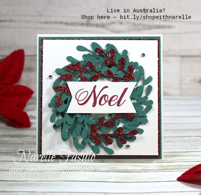 Want a quick and easy Christmas card? Then go no further than a wreath card made from punched out sprigs. Just punch and layer. The Sprig Punch makes a great wreath builder. See it here - http://bit.ly/SprigPunch