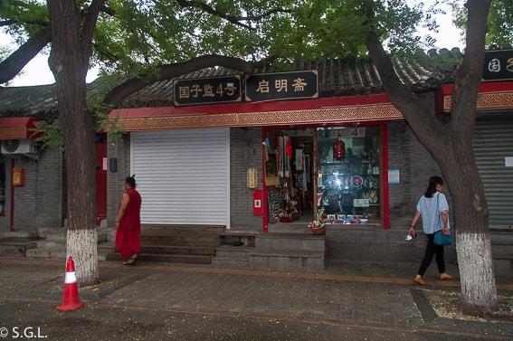 Calle Guozi Jan en Pekin. Primer dia en China