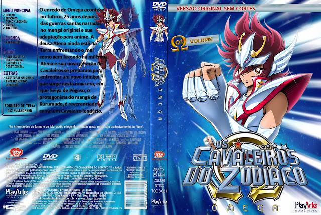 Capa DVD Os Cavaleiros Do Zodíaco Omega D1 a D3