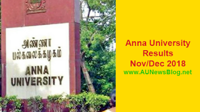 Anna University Results Nov Dec 2018 Jan 2019 UG PG R2013 R2017
