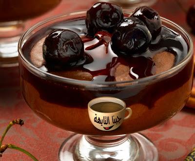 بودنج الشيكولاتة للشيف حسن بالصور خطوة خطوة chocolate pudding