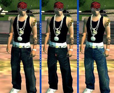 calças estilo hiphop baixa hd roupas gta sa