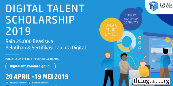 Beasiswa Digital Talent Scholarship 2019
