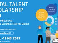 Resmi! Dibuka Pendaftaran Beasiswa Digital Talent Scholarship Tahun 2019