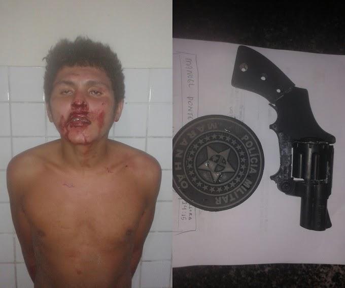 Em Chapadinha, Homem tenta assaltar com arma de brinquedo, levou uma surra de Populares.