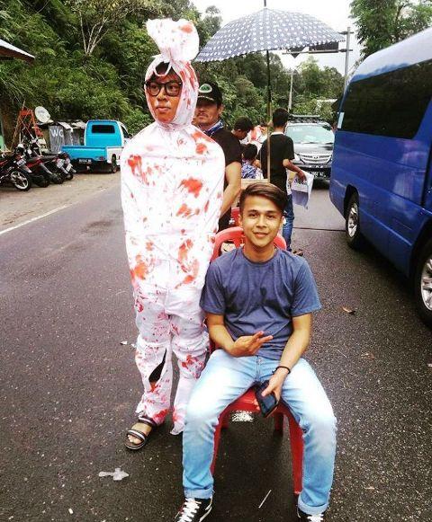 Pemuda Jorong Balai Satu Malalak Selatan, Galang Dana, Dengan Pakain Pocong Berdarah