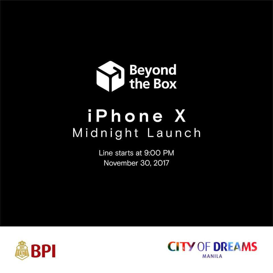Beyond the Box Announces iPhone X Midnight Launch
