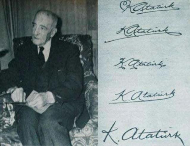 La firma armenia de Kemal Ataturk  Hagop Vahram Çerçiyan