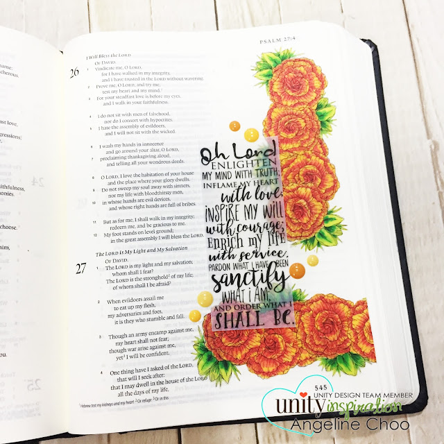 ScrappyScrappy: Bible Journaling - Color & Blend on vellum with Tombow markers #scrappyscrappy #unitystampco #biblejournaling #documentedfaith #illustratedfaith #gracielliedesign #gardeniaflowers #tombowmarkers #vellumstamp #stamp #stamping #papercraft #scrapbook #quicktipvideo #youtube #video