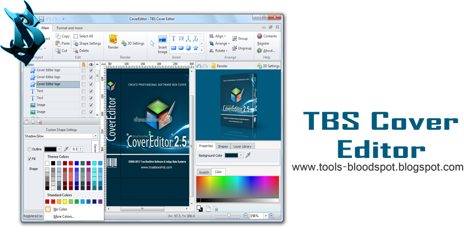 TBS Cover Editor 255337 Full Free Download  Blood Spot Tools
