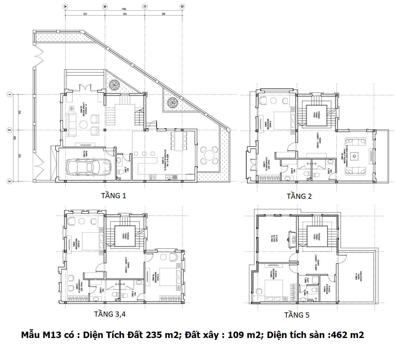 Mẫu thiết kế M13 Shophouse Athena Fulland khu Larissa Đại Kim