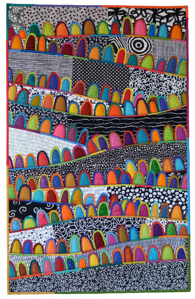 des collines colorées