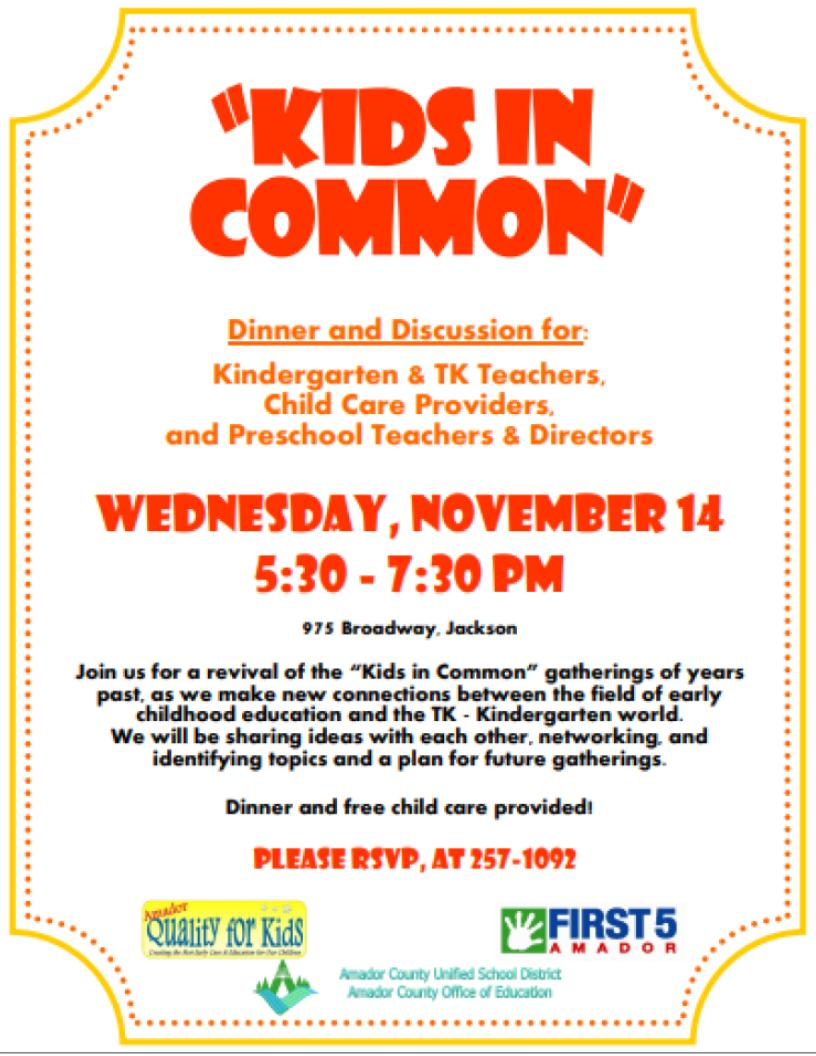 Kids in Common - Wed Nov 14