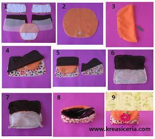 Tutorial cara membuat tempat kacamata berbahan kain perca