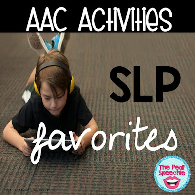 AAC Speech Therapy Activities that your speech therapy students will love!