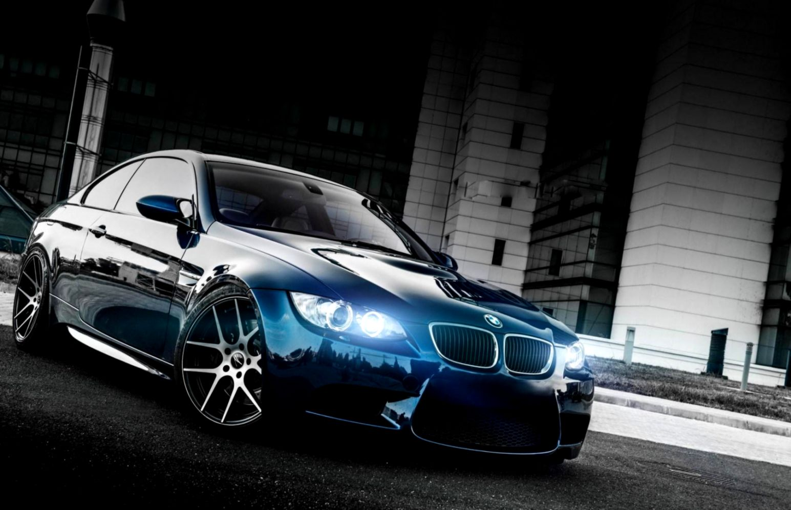 Bmw M3 E92 White Car Lights Tuning Hd Wallpaper Wallpapers