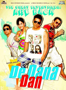 Poster Of Bollywood Movie De Dana Dan (2009) 300MB Compressed Small Size Pc Movie Free Download worldfree4u.com