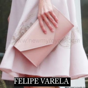 Queen Letizia style FELIPE VARELA Clutch Bag