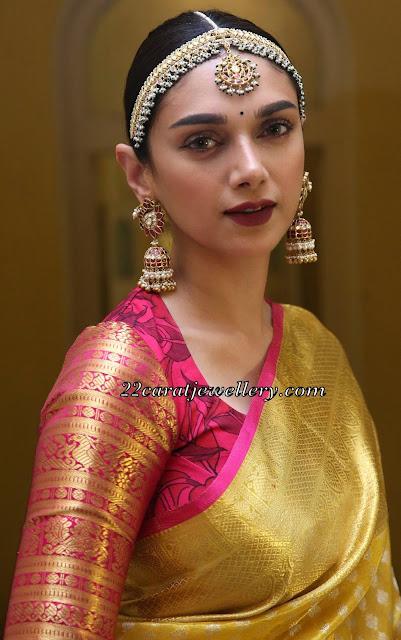 Aditi Rao Temple Jewellery