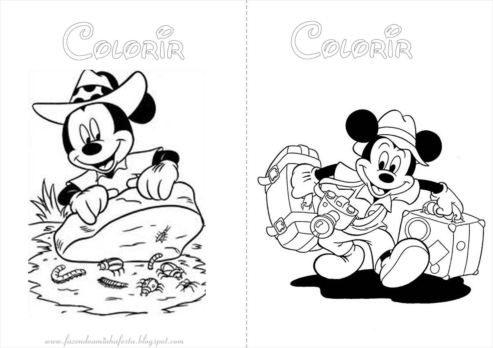 Fazendo A Nossa Festa Colorir Mickey Safari Livrinho De Colorir