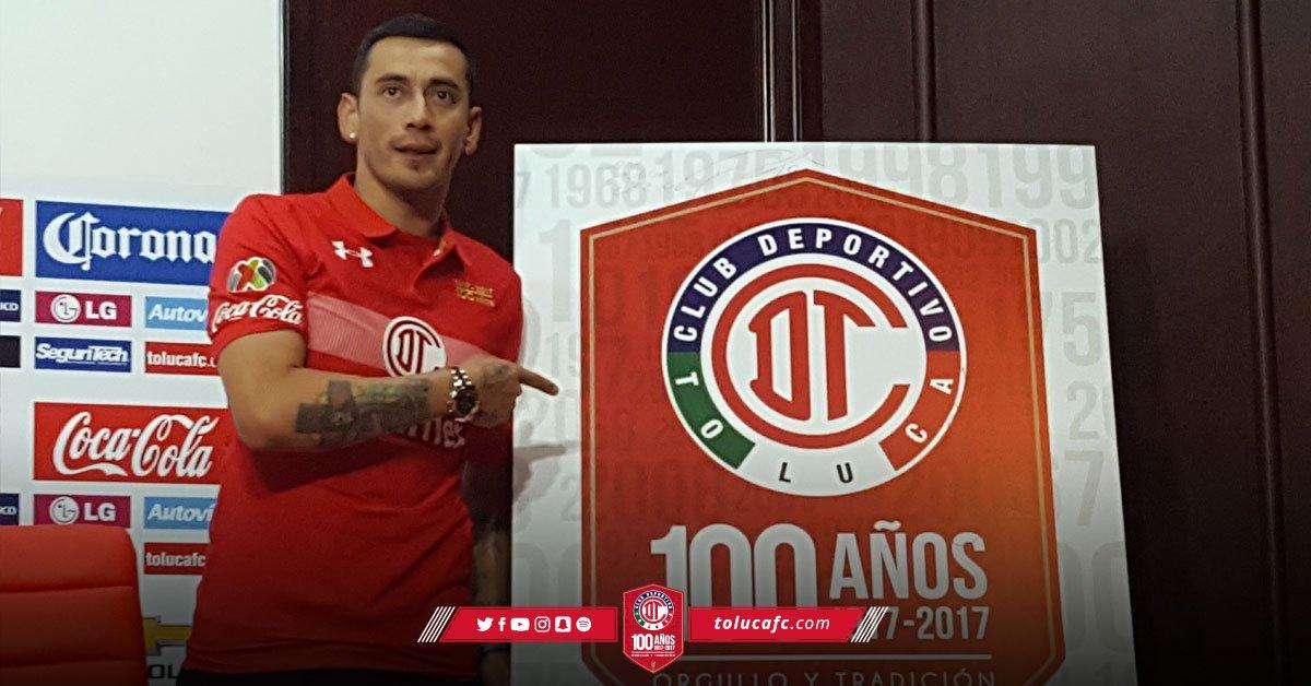 Toluca presentó a Rubens Sambueza