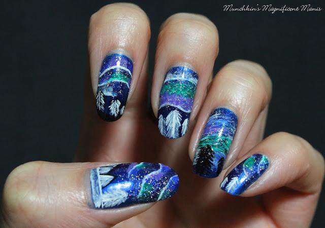 Northern Lights Nail Design