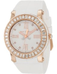 3b0babff820 Juicy Couture Women s 1900886 Hrh White Embossed Jelly Strap Watch