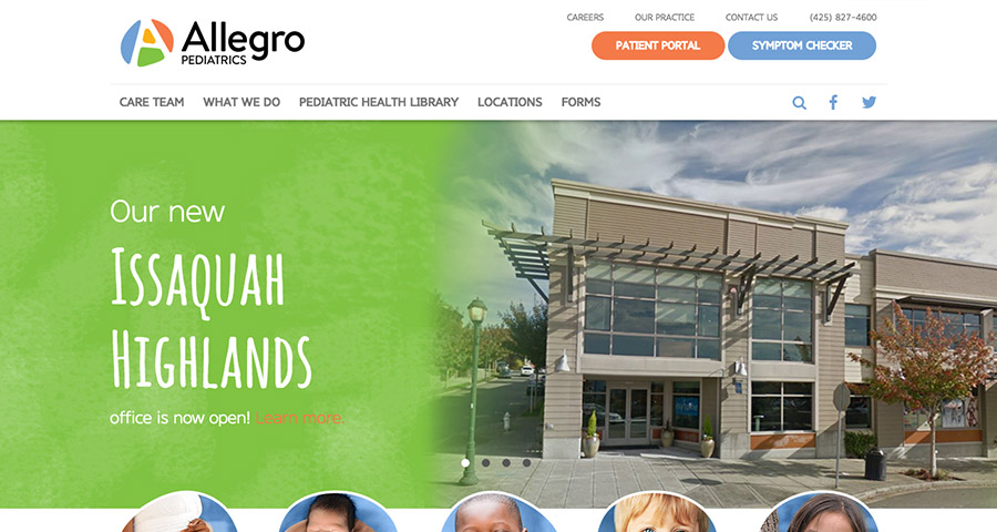 Allegro Pediatrics website