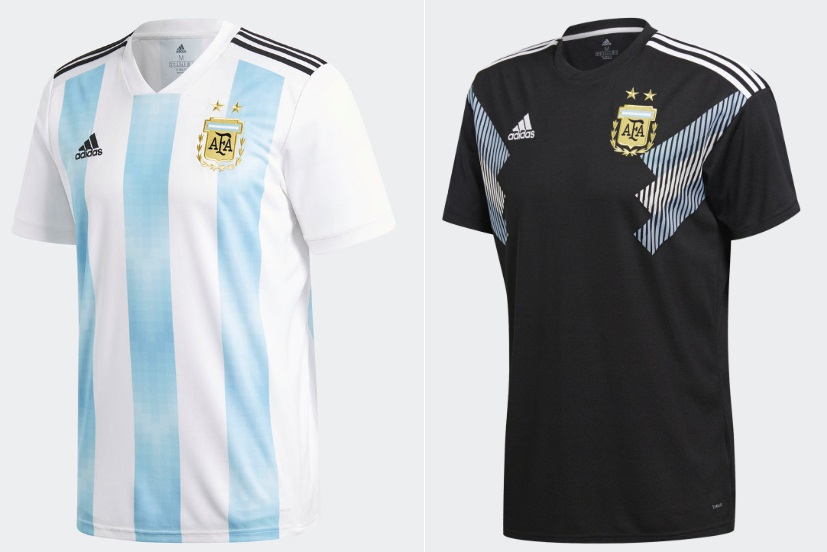 Argentina s home kit comes in traditional strip blue white design inspired  by 1993. While away kit is black a surprise move by Adidas to say the least. 44eff56b8