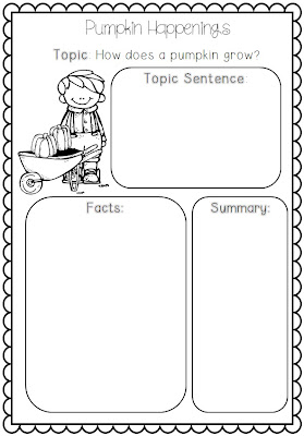 Clever Classroom: Pumpkin Themed Informational Writing for