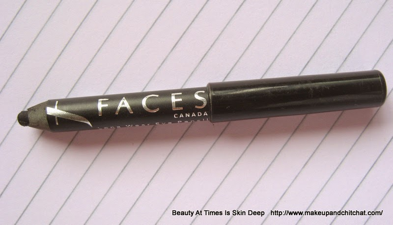 Faces Cosmetics Longstay Eye Pencil in Solid Black| review of Faces Cosmetics Longstay Eye Pencil in Solid Black