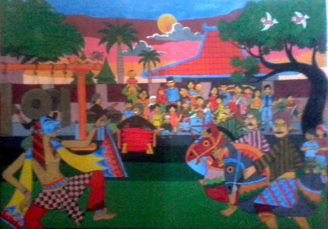 Gambar Belajar Menggambar Jual Cepat Lukisan Dekoratif