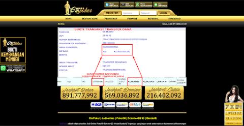Selamat Kepada Member Setia Ompoker WD Rp 42.000.000