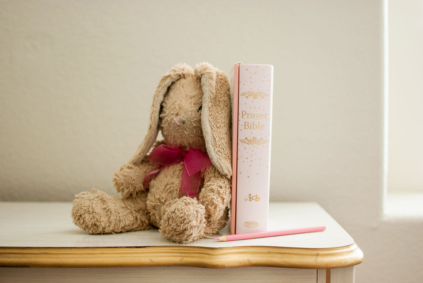 ICB Prayer Bible For Children with a Velveteen Rabbit Stuffed Toy  #ICBPrayerBible