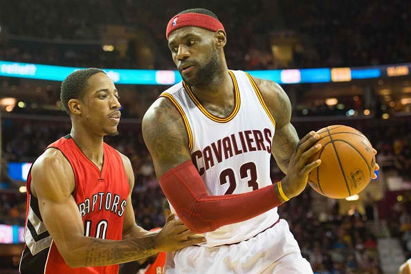DeMar DeRozan (Toronto Raptors) vs LeBron James (Cleveland Cavaliers) #NBA