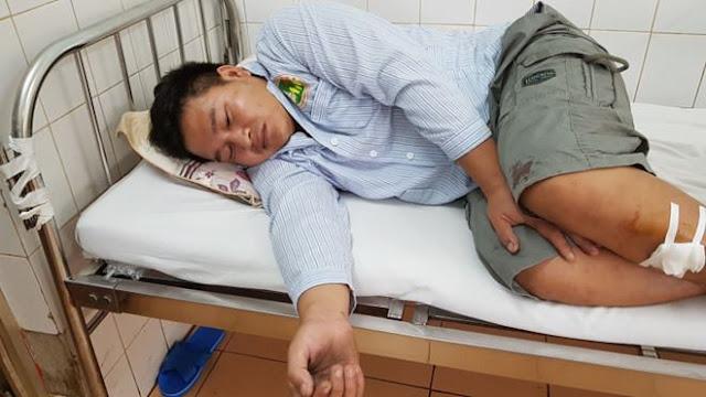 Mạnh đang được theo dõi sức khỏe tại Bệnh viện tỉnh Gia Lai