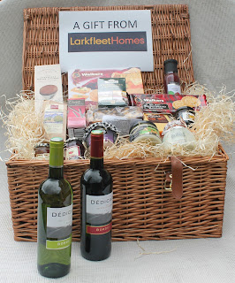 The Larkfleet hamper for the Thorney Abbey Flower Festival now has a new home