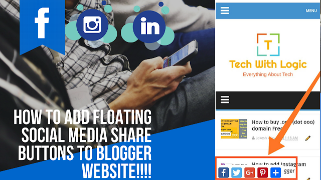 How To Add Floating Social Media Share Buttons To Blogger
