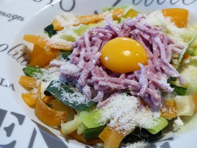 Tagliatelles de légumes à la Carbonara